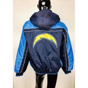 Vtg NFL G-III Chargers Embroidered Hooded Jacket